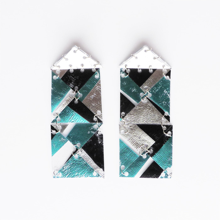 AW13 rectangle earrings