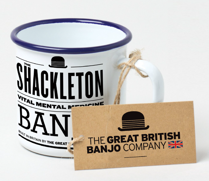 The unique Shackleton expedition enamel mug.