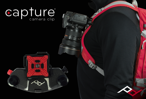 Capture Camera Clip v2: Carry your camera on any backpack strap, belt or bag.