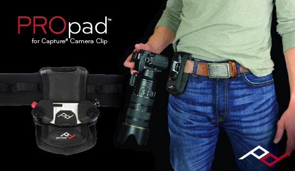 PROpad™ gives you extra stability and comfort when carrying very heavy cameras with Capture.