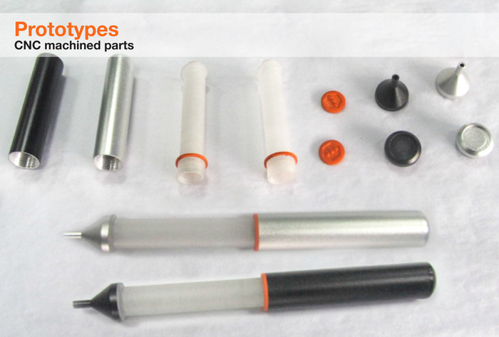 CNC Prototype Parts for the Nota Ultrafine Stylus Functional Prototype