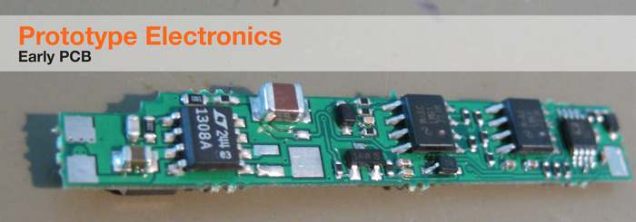 Nota Stylus Active electronics for a finer tip - PCB (earlier prototype)