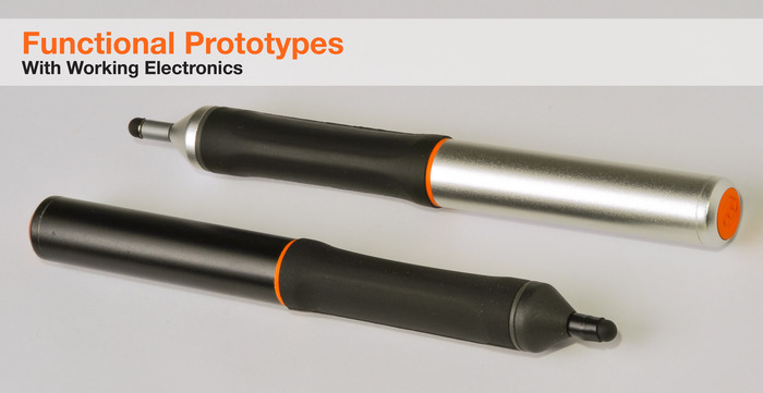 The Nota Ultrafine Point Stylus in Black or Silver - Functional Prototypes Shown
