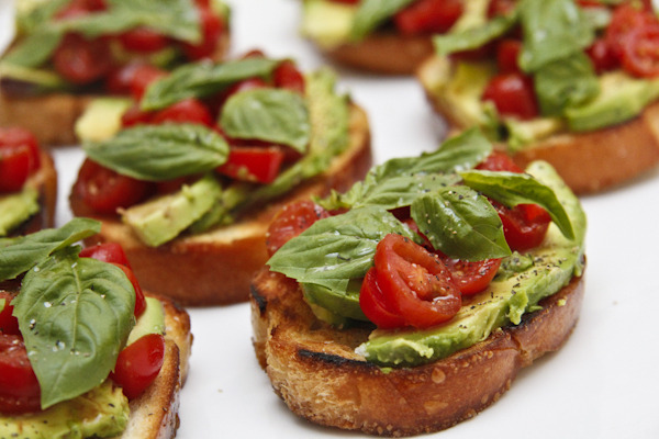 Avocado and Tomato Bruschetta