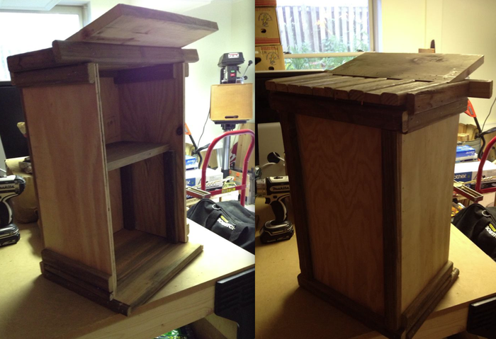 Takoma Little Free Library #3, in progress.....