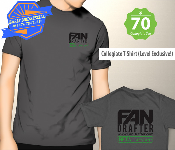 Collegiate Rewards Limited To 40! Collegiate T-Shirt NOT Included In Higher Reward Levels.