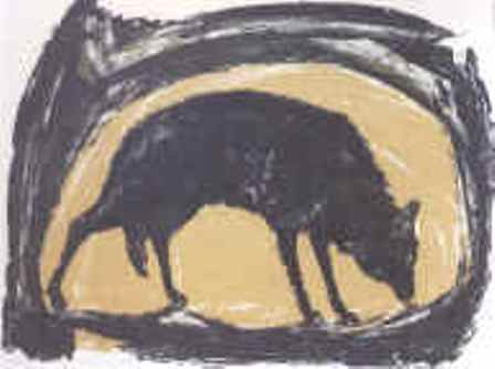 "$450 Pledge: Limited edition of hand pulled serigraph of ""Timber Wolf"" by Daniel Stolpe"