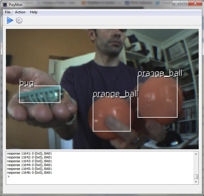Pixy cmucam5 - colour object recognition