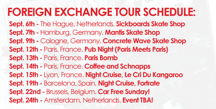 Meet up and skate with us in any or all of these locations!