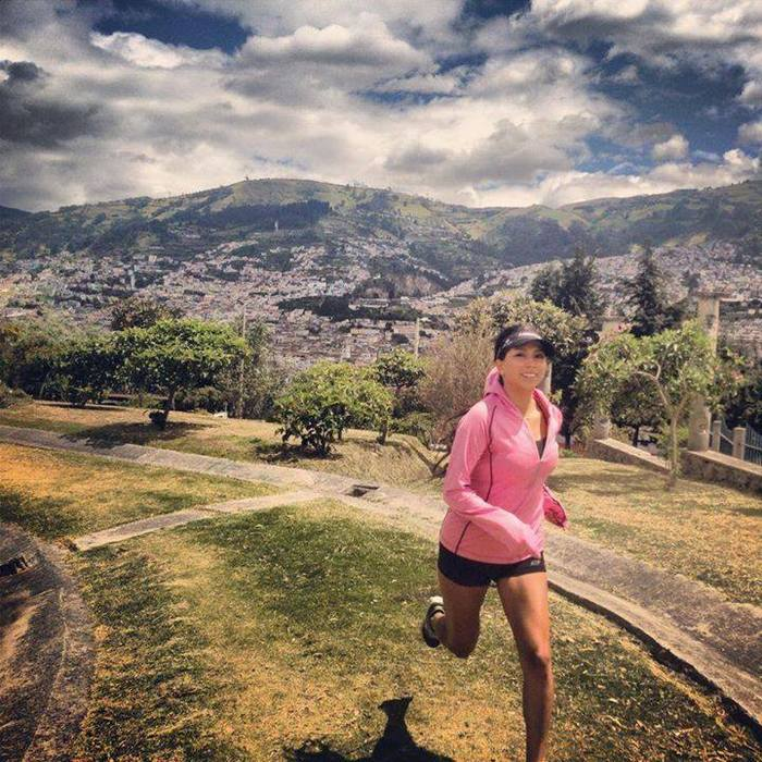 Swirlgear worn by Nadia Ruiz in Quito, Equador.