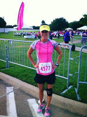 Anna at the Race for the Cure in Austin, TX in her Swirlgear.