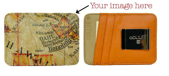 Leather Card Holding Money Clip: RFID Anti-theft Blocking