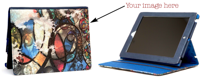 Leather iPad Cinema Case: Adjustable Screen Angles, Fits iPad2, iPad3, and iPad4