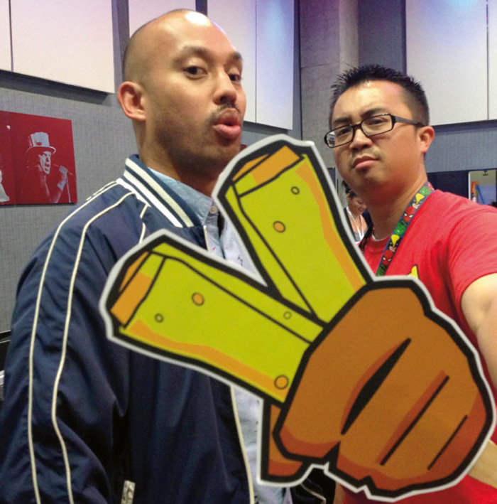 Editor/Producer A.J CALOMAY & Director PATRICIO GINELSA showcase the sequel's logo at Comic Con.