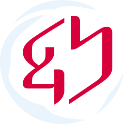 Genshin logo with moon white border and Japanese crimson center