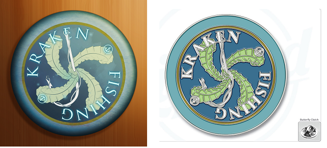 Kraken Fishing Merit Badge... In Pin Form!