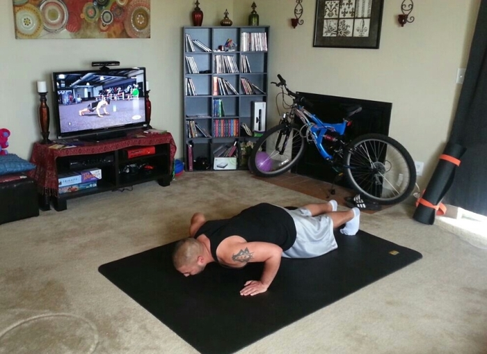 At home workout with Xbox
