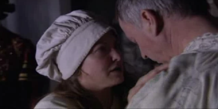 Lorna Doyle and Sam Neill in The Tudors