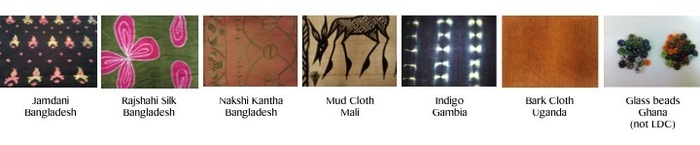 Range Of Indigenous Textiles I Have Sourced.