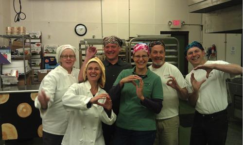 CVIO crew at Bake'mmm® Bagels with owner Janet Dob, Terri Allard, Mark Zipperer, Shawn Freude, Paul Adams, Mike Rogers)
