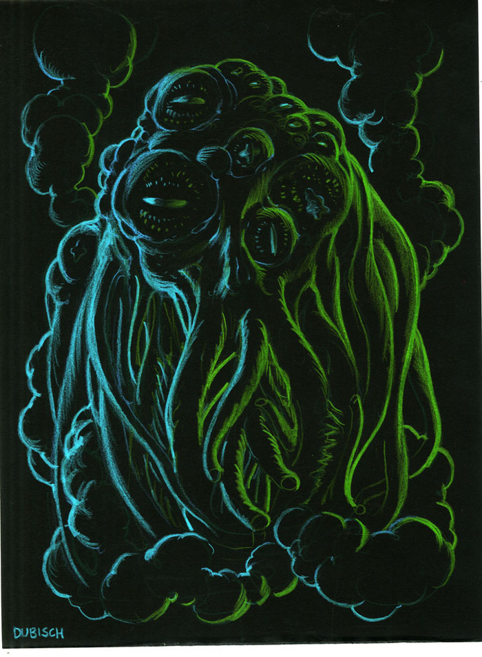 Yog-Sothoth Portrait - art by MIke Dubisch, for all e-book levels