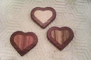 Heart inlays made great Valentine day gifts!!!