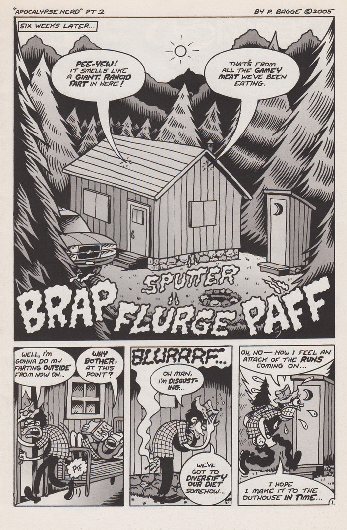 "One of the original ""splash"" pages hand drawn and inked by Peter Bagge for the APOCALYPSE NERD comic book. One of the many amazing items we've giving away as a thank you for helping us make this movie happen."