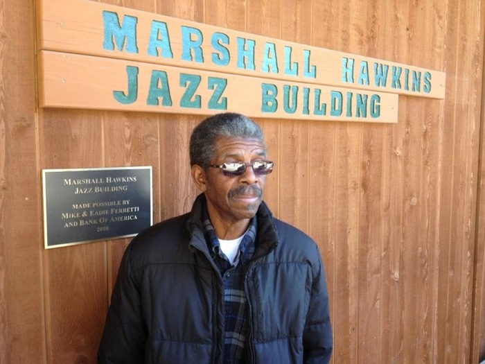 Marshall Hawkins outside his Jazz building at Idyllwild Arts Academy