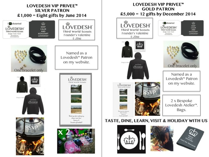 Above. Ultimate Lovedesh™ Designer Gift Bundles at £1,000 and £5,000
