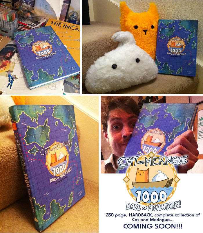 the hardback book itself with the Cat and Meringue luxury plushies!
