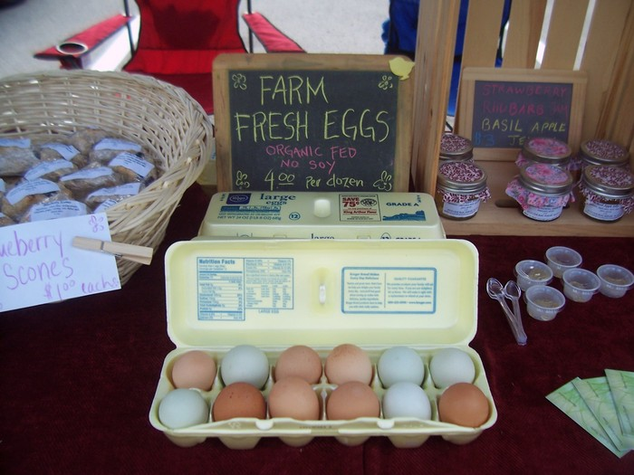 Our farm fresh eggs.