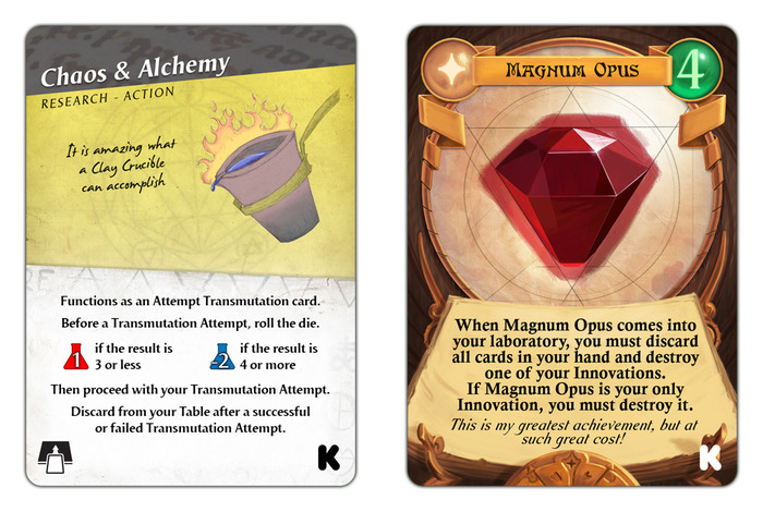 Chaos & Alchemy has joined forces with Magnum Opus to create these exclusive promo cards - check out Magnum Opus today!