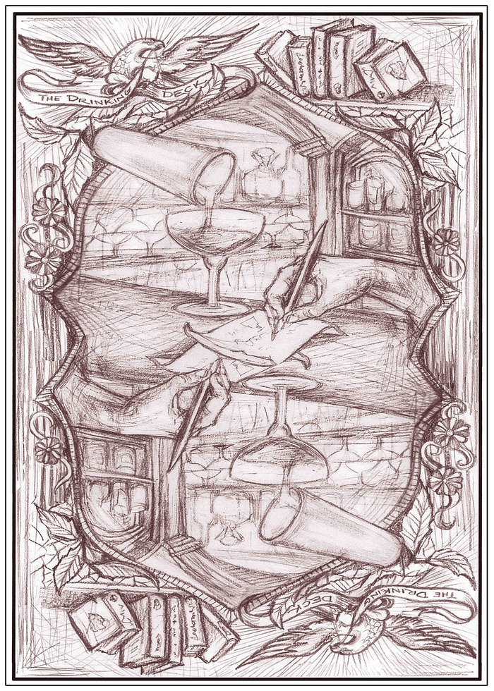 Updated sketch of the card back!!