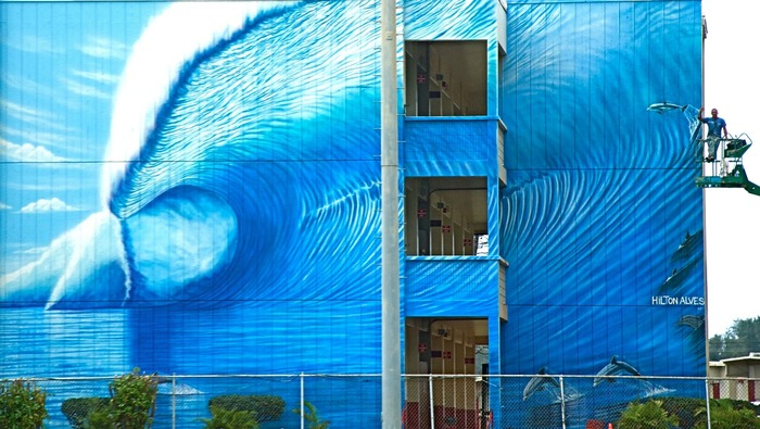 Kahuku Mural by Hilton Alves - Painted in four days.