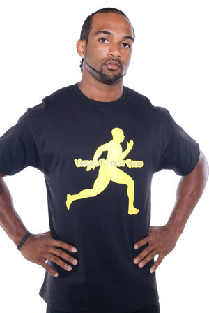 Our running man cotton T.