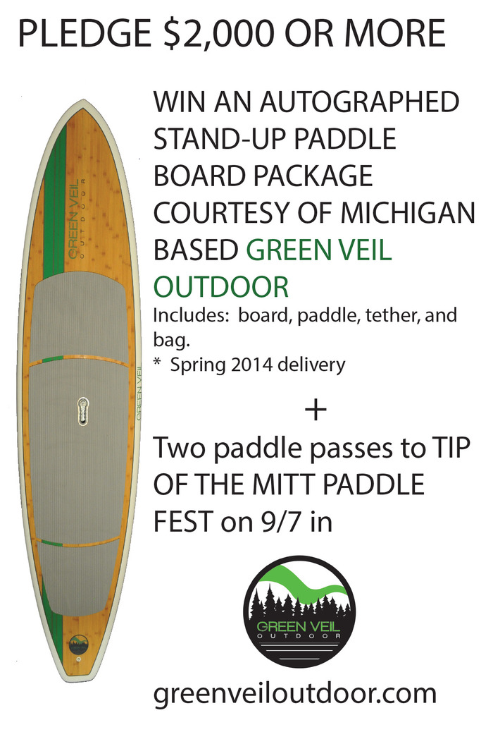 Autographed stand-up paddleboard courtesy of our friends at Green Veil Outdoor