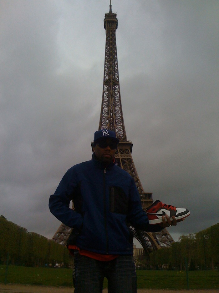 Producer Bat holding it down in Paris.
