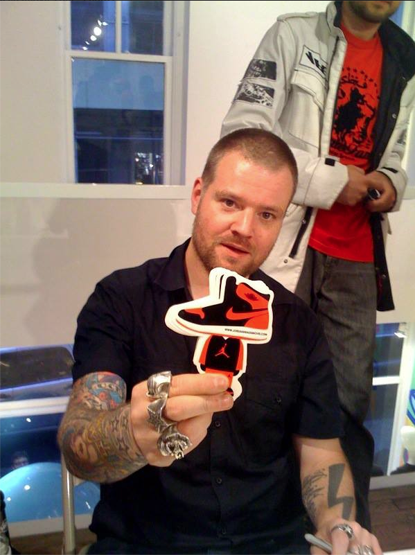 Artist Dave White is a Jordan Head.