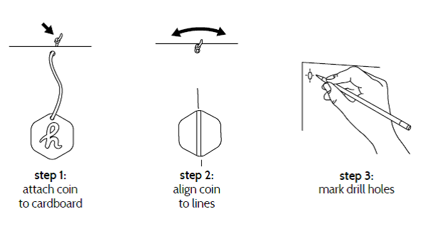 The coin makes sure that the Super®Columns are perfectly horizontally installed.