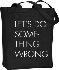 Artist's impression of totebag. Real tote will be more...three dimensional.