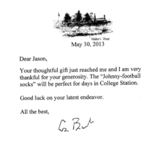 Letter from George H.W. Bush