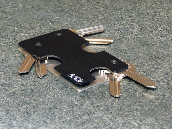 KeyCase is shown with the one-to-six keys backing plate.