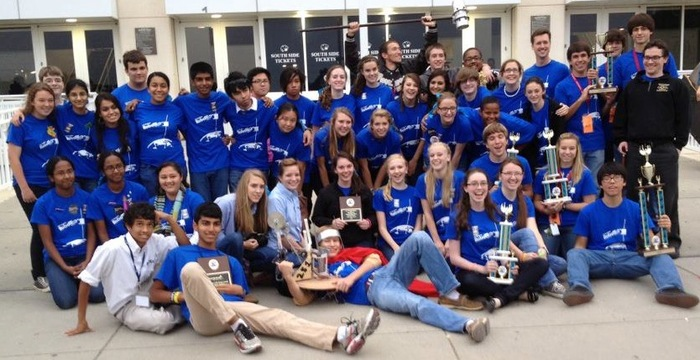 Here is the 2012 Davidson RobotEx team after winning the local competition!