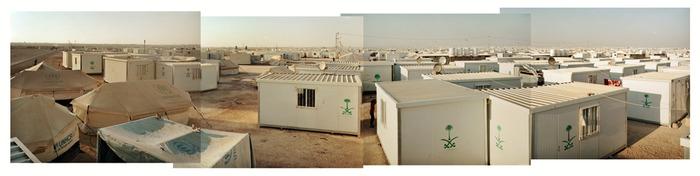 Zaatari refugee camp from above.