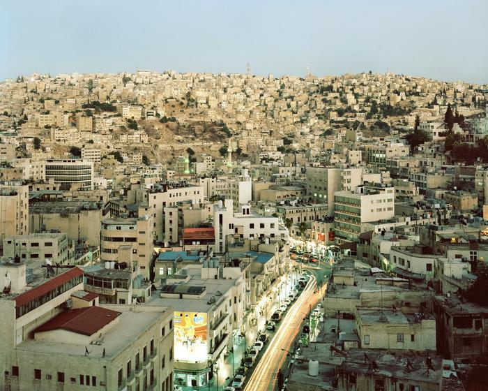 Amman, Jordan at dusk.