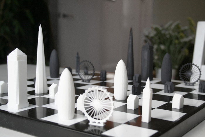 London Buildings As Chess Game