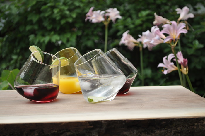 All Glass Revolving Rocks Glasses