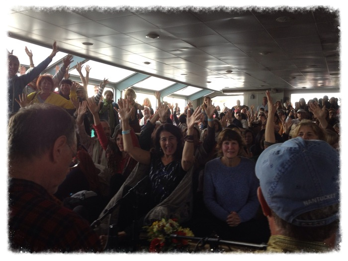 Bhajan Boat, NYC (photo by Nina Rao)