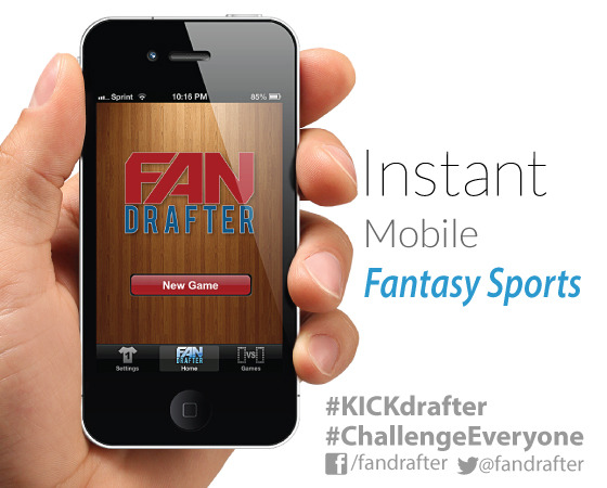 FanDrafter Homescreen (Oct. '12). Sign Up Today! (September '13 est. launch)