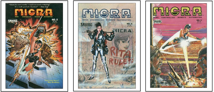 MICRA comic book covers